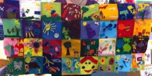 Nursery Reading Rainbows Tapestry