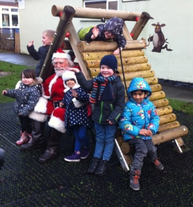 We were lucky enough to have a visit from Santa, Jimmy Martin, before Christmas to open our new outdoor climbing frame.